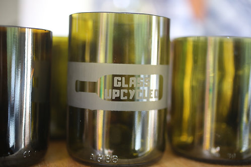 Glass Upcycled Tumbler