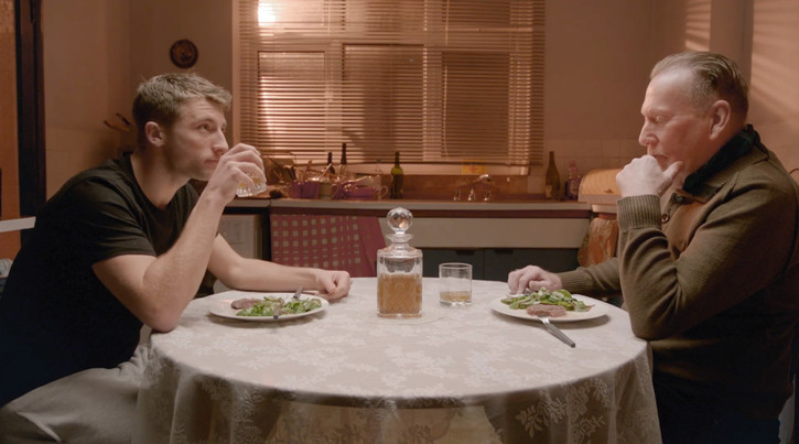 Still from Straight and Narrow, which I sourced the props, and dressed the set for.