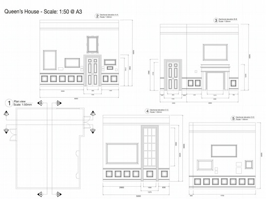 Technical drawing using AutoCAD