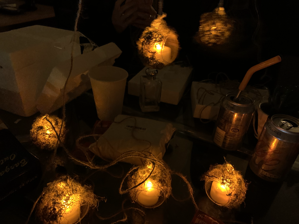 PROP MOSS LANTERNS CREATED FOR JESSIE AND THE ELF BOY