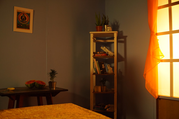 Still from Lola Lies 'Cancer', which I designed, sourced the props, and dressed the set for.