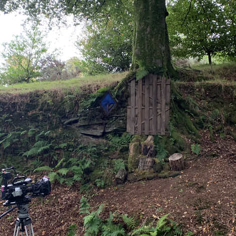 BTS PHOTO OF EXTERIOR SET FOR JESSIE AND THE ELF BOY