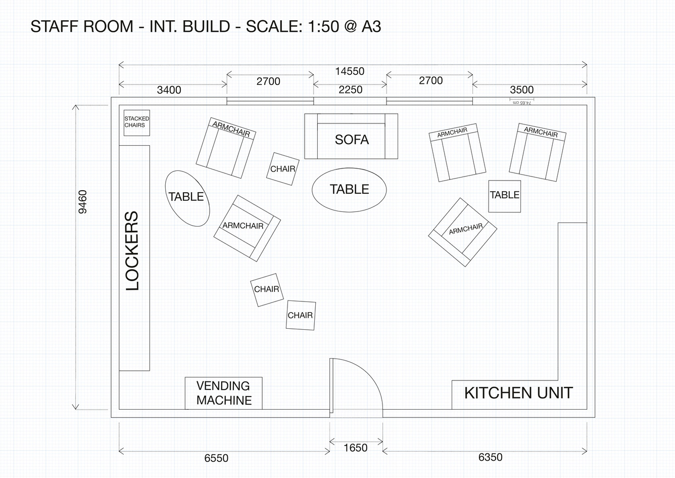 Floorplan done using AutoCAD