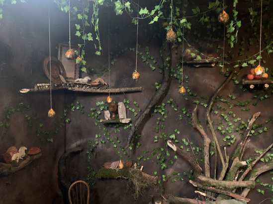 BTS PHOTO OF SET BUILD FOR JESSIE AND THE ELF BOY