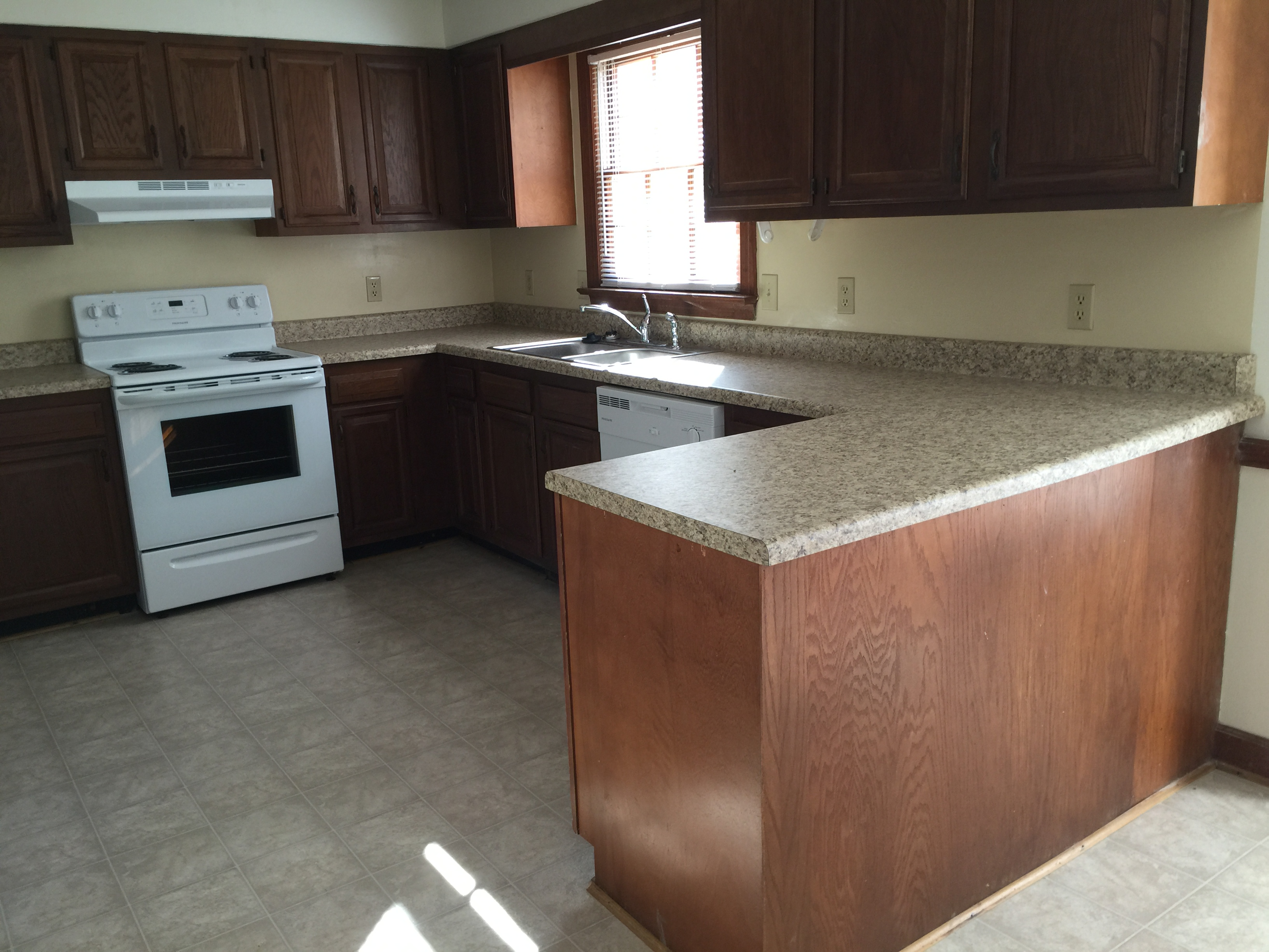 Kitchen with New Countertops