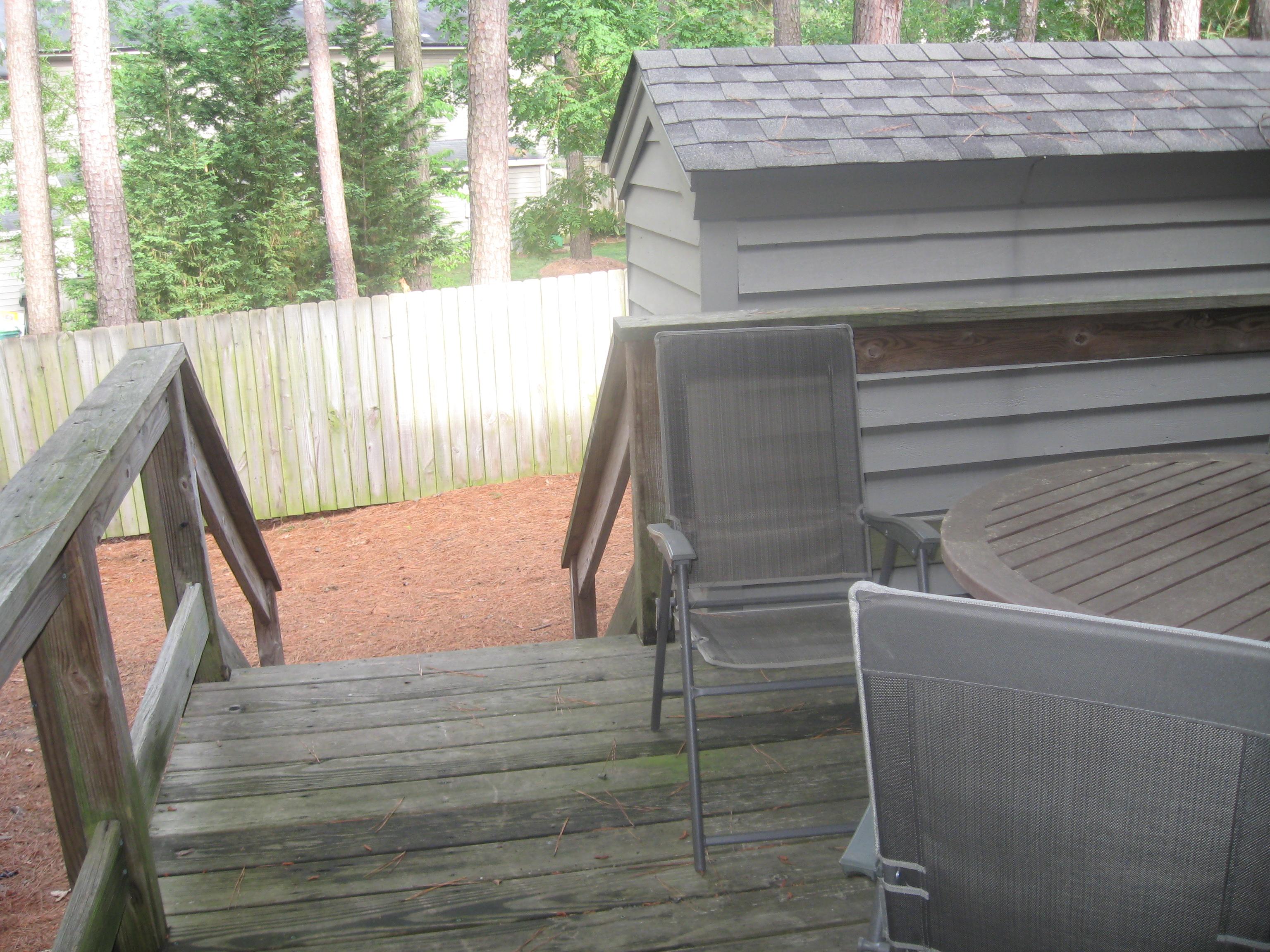 View from back door deck