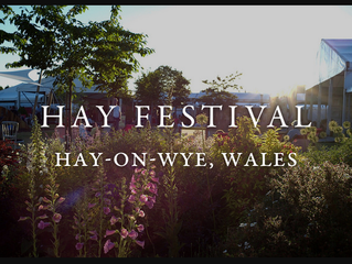 I'm at Hay Festival! So is Eddie Izzard! ... the week before :(