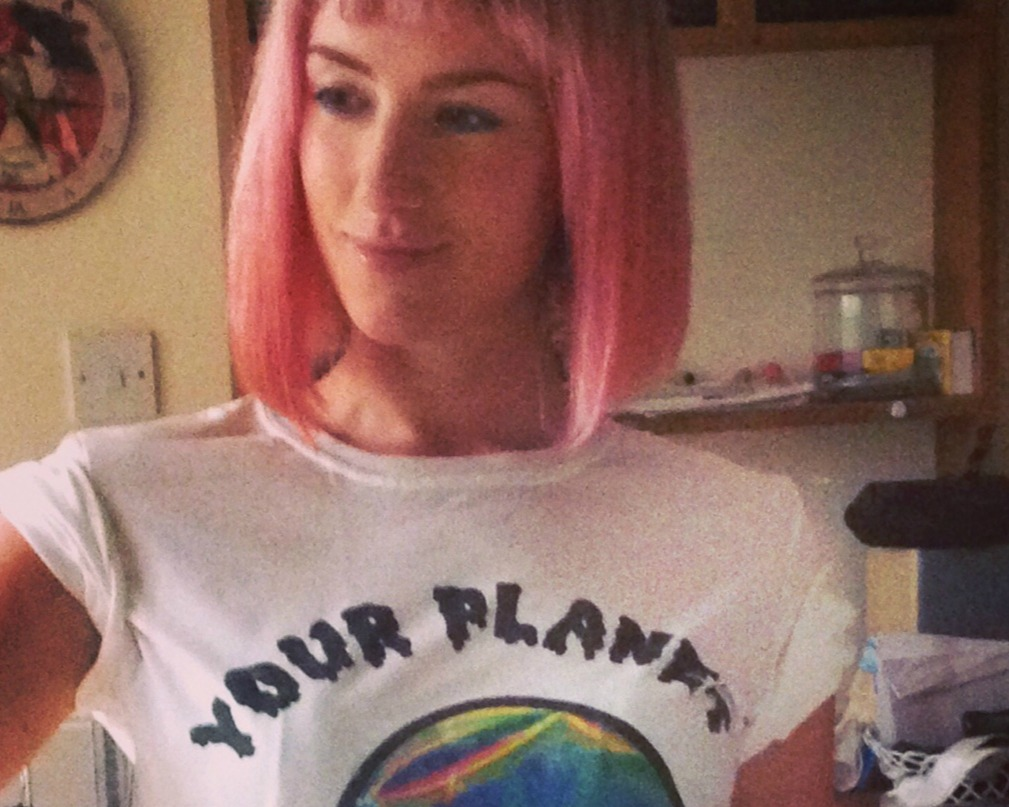 Pink hair alien t-shirt close up_edited.