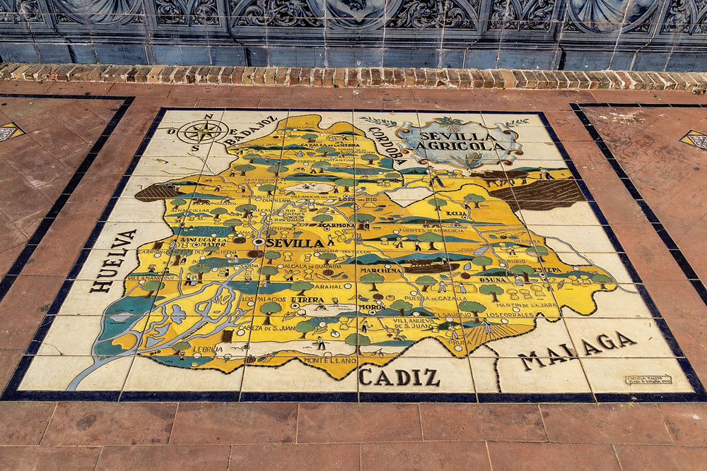 """Close up of the """"Sevilla"""" tile section"""