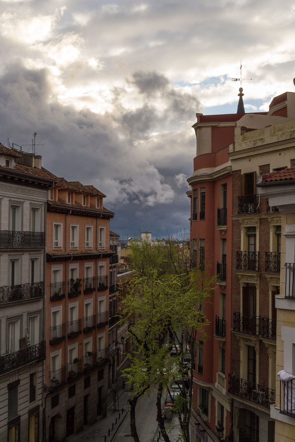View from our Madrid Airbnb
