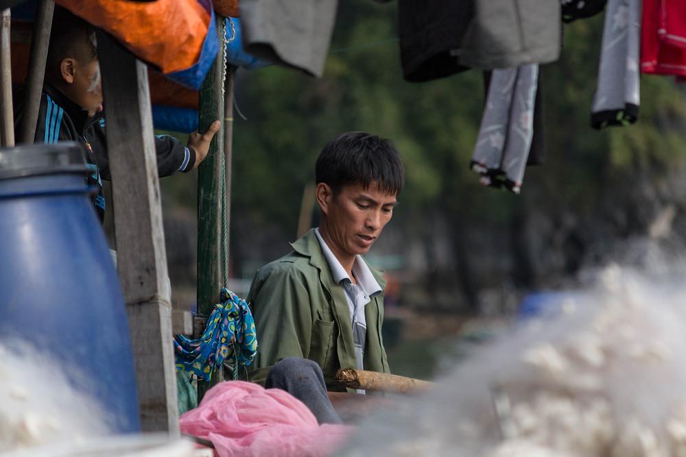 Halong Bay, Vietnam: Local fisherman