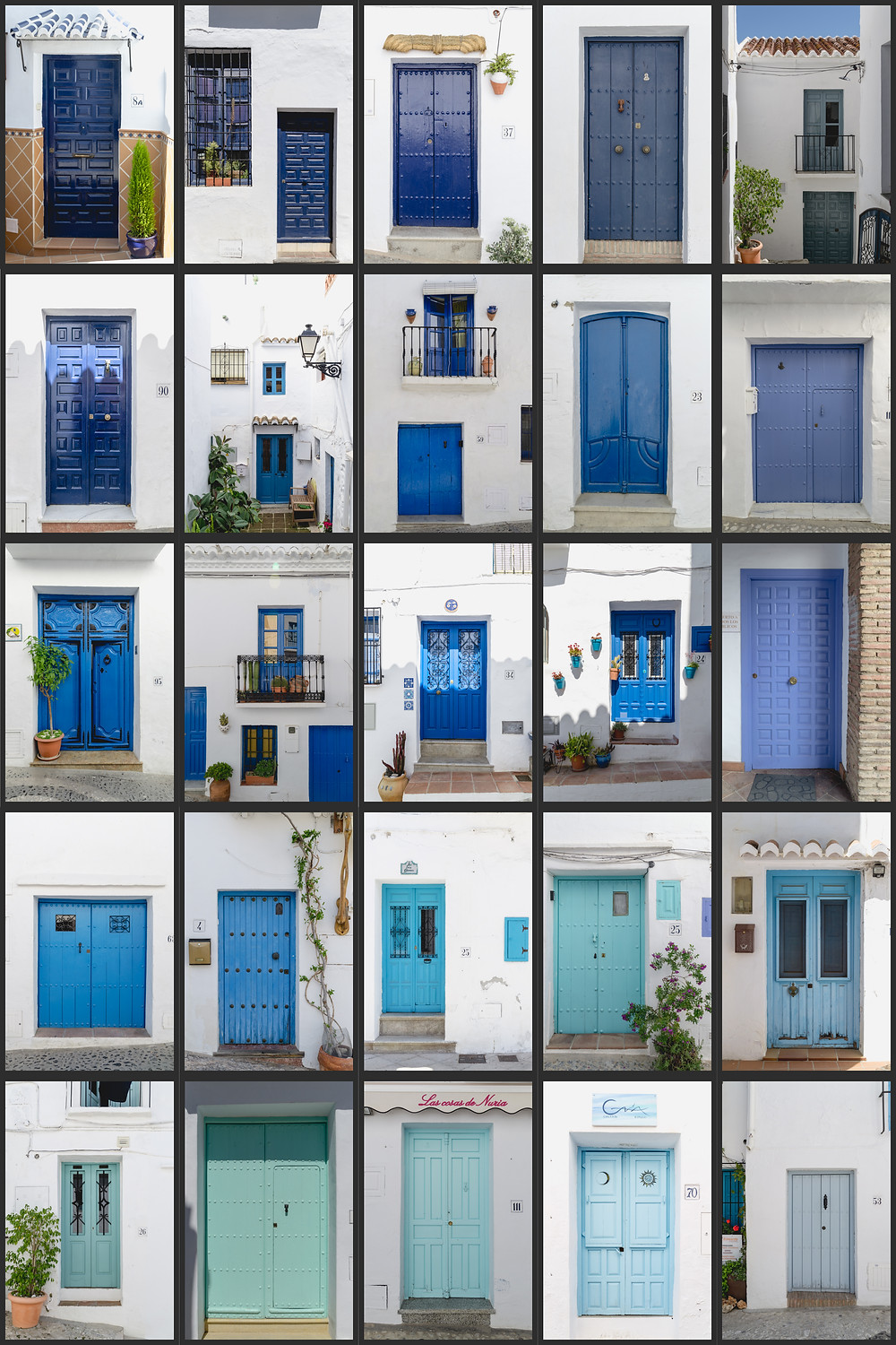 Frigiliana, Spain - Blue doors everywhere!