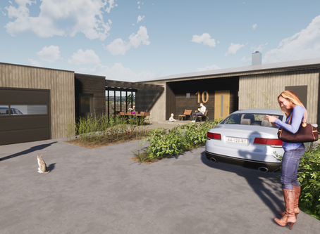 Fasadeendring og tilbygg bolig Hokksund
