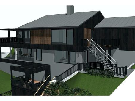 Fasadeendring enebolig Drammen