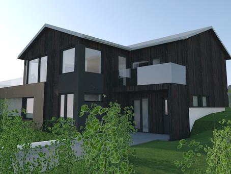 Fasadeendring med tilbygg bolig Engveien