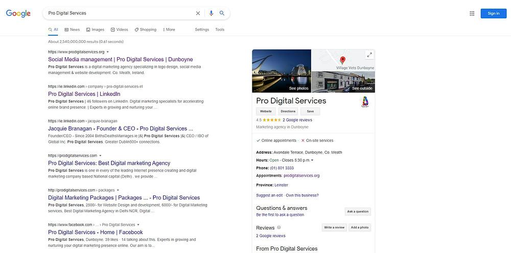 search engine optimization organic example
