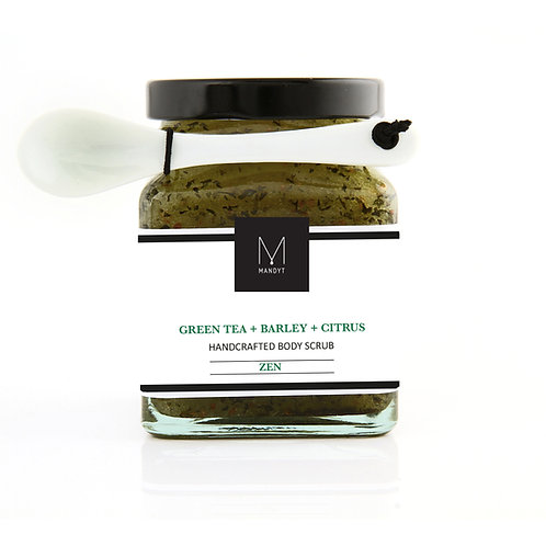 GREEN TEA +  BARLEY + CITRUS Body Scrub (NEW!)