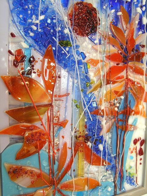 """Копия «""""Осенние листья"""" Фьюзинг (сплавление стекла) 21/29,5 см.»"""