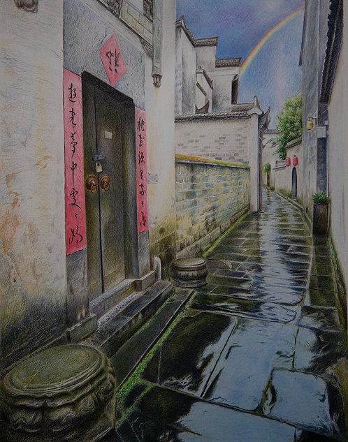 Village After Rain