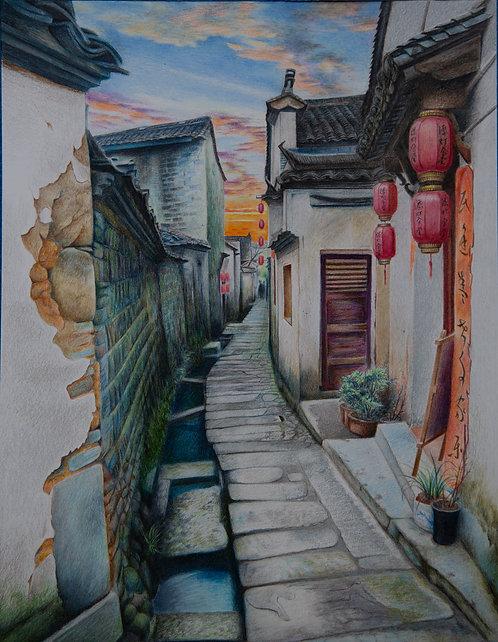Old Village Dawn