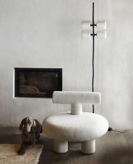 Typographic armchair