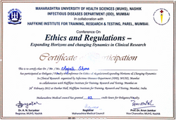Dr. Anjali Shere Certificate 4