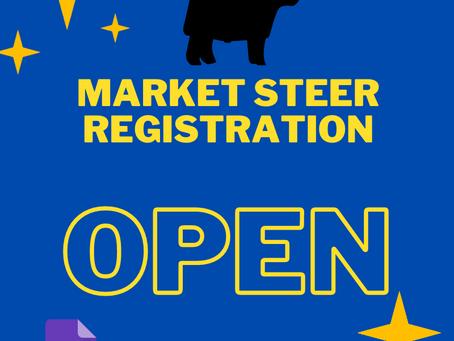 2021 Market Steer Registration OPEN!