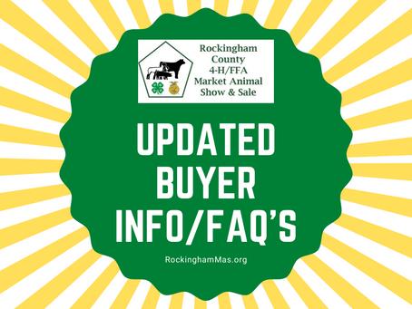 Updated Buyer Info/FAQ's!