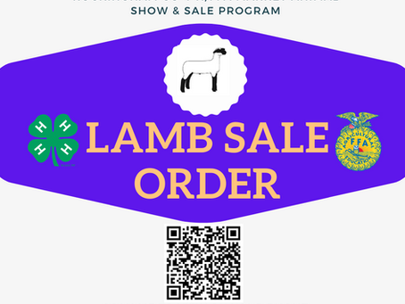 Lamb Sale Order Posted!