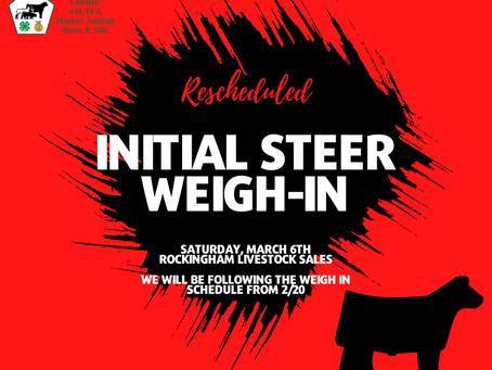 Steer Weigh-In Rescheduled