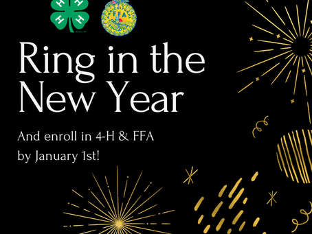 Must be a 4-H/FFA member by January 1st!