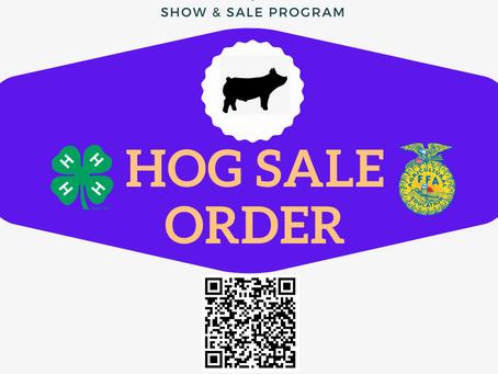 Hog Sale Order Posted!