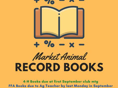 Record Book Deadlines!