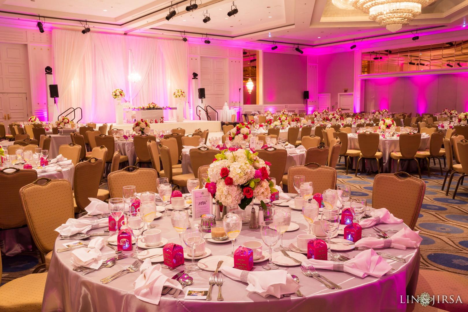 Pink Uplights Sheraton