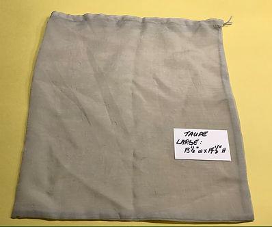 Large Taupe Mesh Bag