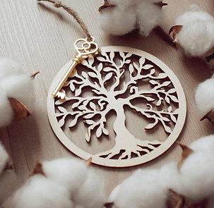 Clef  parfumée arbre de vie