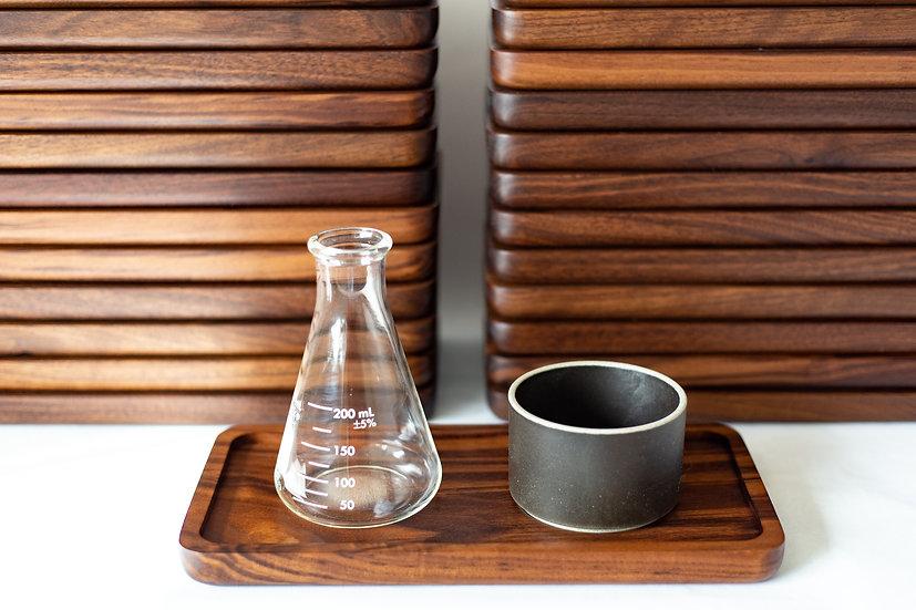 Small Walnut Coffee Tray