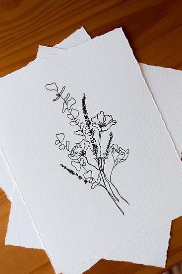 Wildflower Bouquet Giclee Print