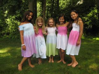 Lovely Ladies in their dip dyes dresses
