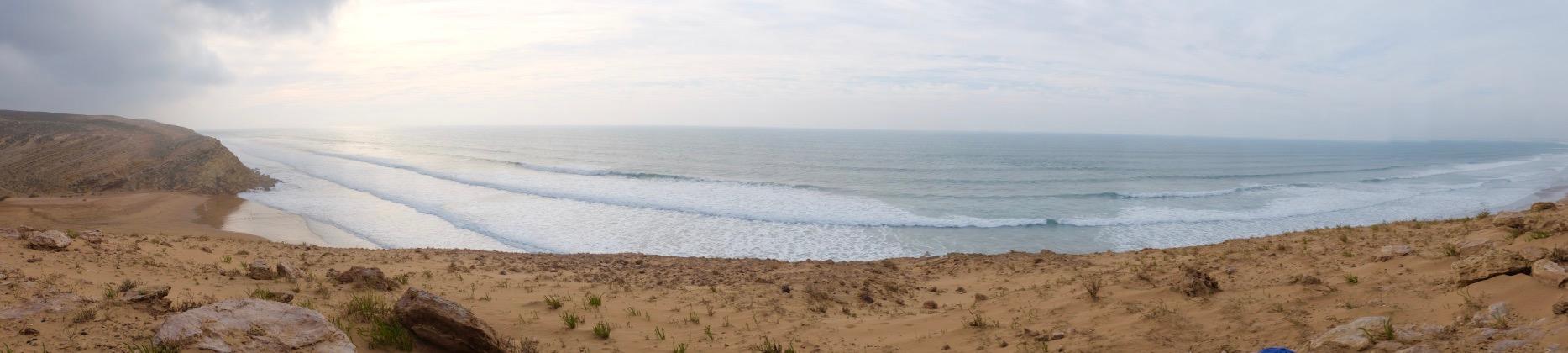 Trek au bord de l'océan marocain