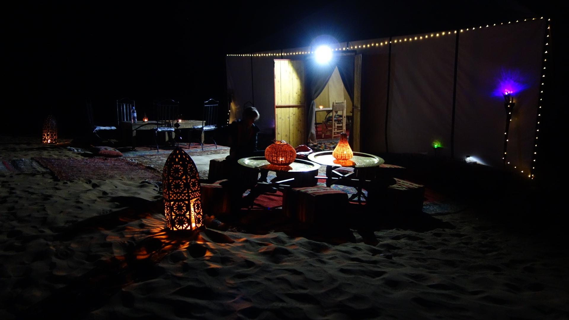 Soirée dans le désert