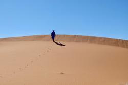 randonnée dans le désert marocain
