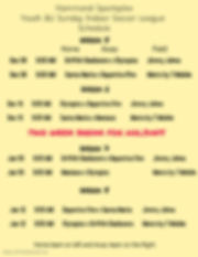 8U Week 5-8 Schedule - Made with PosterM