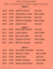 Men League Schedule Week 5-7 2020 - Made