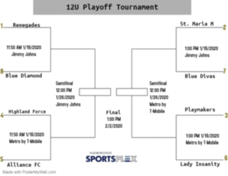12u Playoff Tournament Silver - Made wit