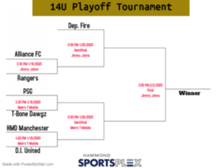 14U Playoff Tournament - Made with Poste