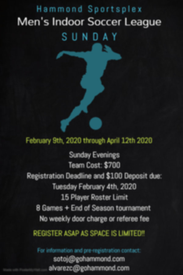 Mens Open Flyer 2020 - Made with PosterM