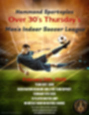 Over 30s League 2020 - Made with PosterM