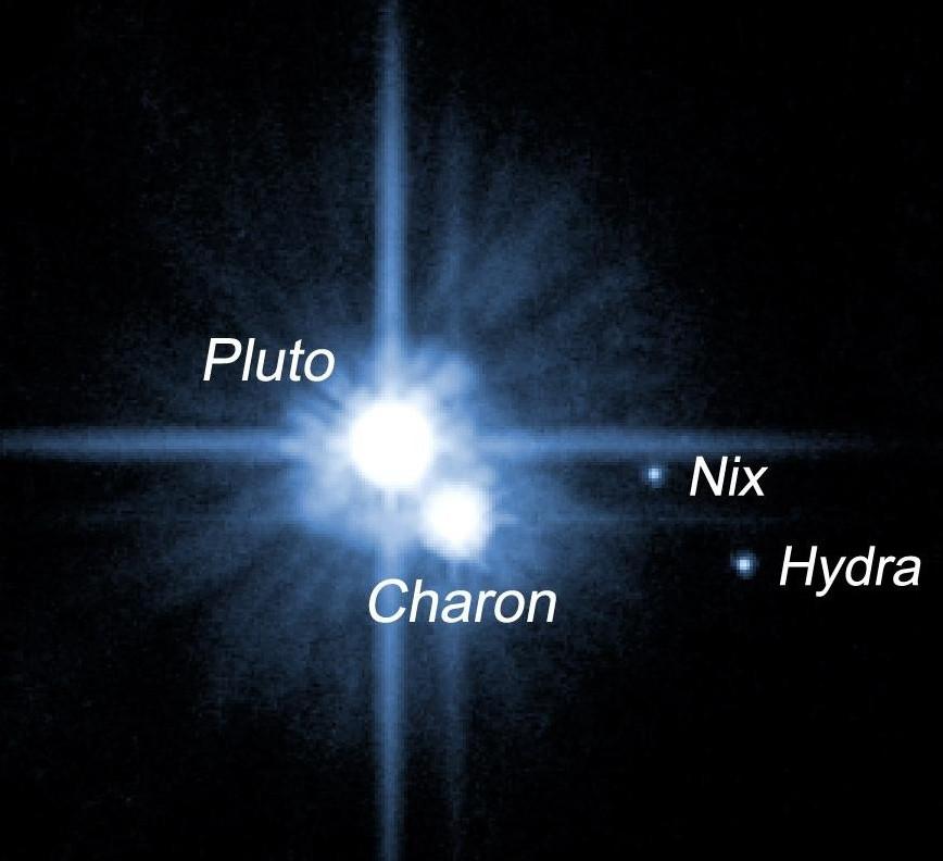 Плутон, Харон, гідра та Нікс. Знімок телескопа ім. Хаббла