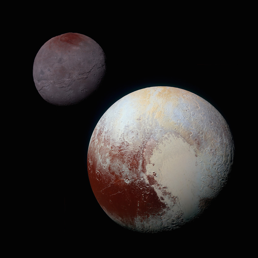 Плутон та Харон (колаж)